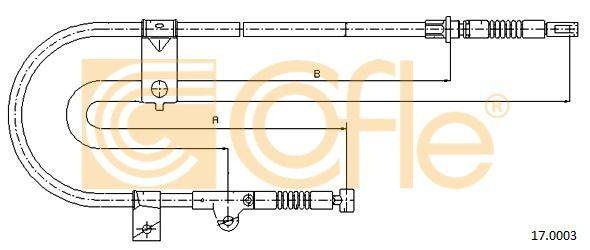 COFLE 170003 | Трос стояночного тормоза лев задн NISSAN MICRA K11E all (дисковые тормоза) 93- | Купить в интернет-магазине Макс-Плюс: Автозапчасти в наличии и под заказ