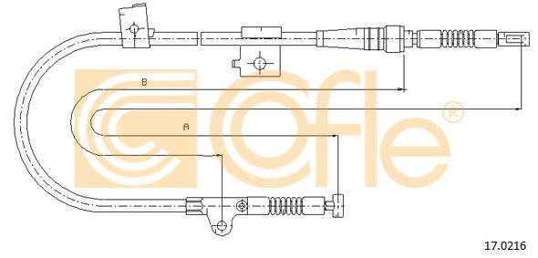 COFLE 170216 | Трос стояночного тормоза лев задн NISSAN PRIMERA P10-2.0 all (дисковые тормоза) 91- | Купить в интернет-магазине Макс-Плюс: Автозапчасти в наличии и под заказ