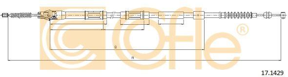 COFLE 171429 | Трос стояночного тормоза TOYOTA: COROLLA AE111UKP 1576/1270 mm | Купить в интернет-магазине Макс-Плюс: Автозапчасти в наличии и под заказ
