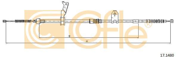 COFLE 171480 | Трос стояночного тормоза лев задн TOYOTA AVENSIS all (дисковые тормоза) (mod.T25) 3/03-3/04 | Купить в интернет-магазине Макс-Плюс: Автозапчасти в наличии и под заказ