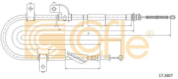 COFLE 172607 | Ciegno, hamulec postojowy | Купить в интернет-магазине Макс-Плюс: Автозапчасти в наличии и под заказ
