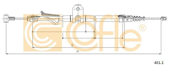 COFLE 4511 | Трос стояночного тормоза задн прав LANCIA KAPPA all 95-01 | Купить в интернет-магазине Макс-Плюс: Автозапчасти в наличии и под заказ