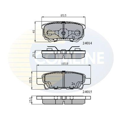 COMLINE CBP31290 | Тормозные колодки задн. Peugeot/Citroen/Mitsubishi Lancer/Outlander/C4/C-cross/4008 1.3-2.4 08 - | Купить в интернет-магазине Макс-Плюс: Автозапчасти в наличии и под заказ