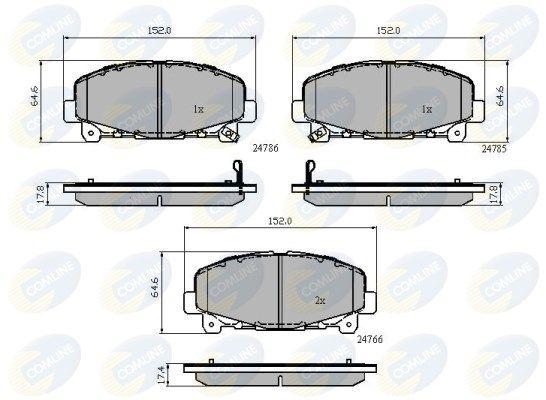 COMLINE CBP32010 | Колодки тормозные дисковые перед прав/лев | Купить в интернет-магазине Макс-Плюс: Автозапчасти в наличии и под заказ