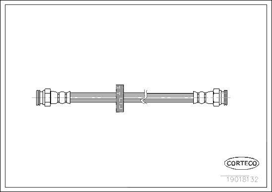 CORTECO 19018132 | шланг тормозной задний! L=223\ Fiat Brava/Marea/Tempra 1.2-2.4TD 90> | Купить в интернет-магазине Макс-Плюс: Автозапчасти в наличии и под заказ