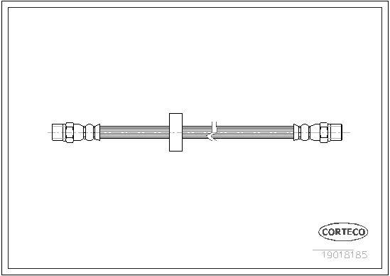 CORTECO 19018185 | Шланг тормозной AUDI: 80 1.3/1.6/1.6 D/1.6 GLE/1.6 TD/1.8/1.8 CC quattro/1.8 GTE/1.8 GTE quattro/1.9 | Купить в интернет-магазине Макс-Плюс: Автозапчасти в наличии и под заказ