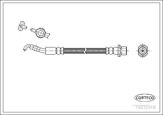 CORTECO 19032918 | Шланг тормозной LEXUS: IS I 200 99-05 | Купить в интернет-магазине Макс-Плюс: Автозапчасти в наличии и под заказ