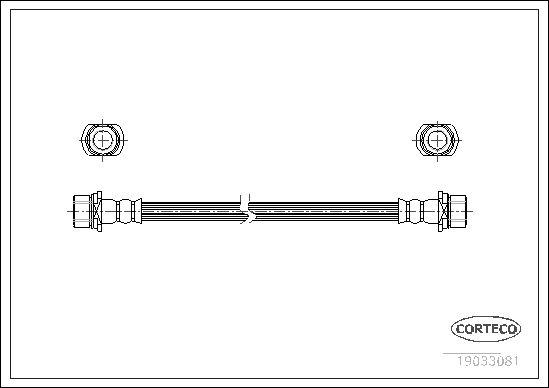 CORTECO 19033081 | Шланг тормозной Toyota | Купить в интернет-магазине Макс-Плюс: Автозапчасти в наличии и под заказ