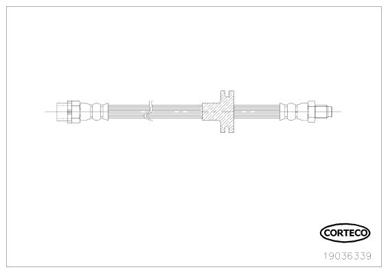 CORTECO 19036339 | шланг тормозной передний! L=505\ BMW X5 3.0/4.4/4.6/4.8/3.0D 00-07 | Купить в интернет-магазине Макс-Плюс: Автозапчасти в наличии и под заказ
