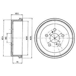 DELPHI BF341 | Тормозной барабан (PJ) | Купить в интернет-магазине Макс-Плюс: Автозапчасти в наличии и под заказ