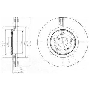 DELPHI BG4225 | Тормозной диск | Купить в интернет-магазине Макс-Плюс: Автозапчасти в наличии и под заказ