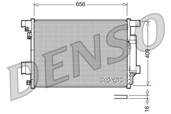 DENSO DCN21001 | Радиатор кондиционера CITROEN C-CROSSER /OUTLANDER /PEUGEOT 4007 2.2 - 2.4. | Купить в интернет-магазине Макс-Плюс: Автозапчасти в наличии и под заказ