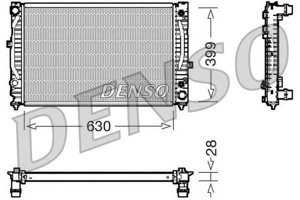 DENSO DRM02031 | Радиатор AUDI A4/A6 2.4-2.8/2.5TD A/T 97-06 | Купить в интернет-магазине Макс-Плюс: Автозапчасти в наличии и под заказ