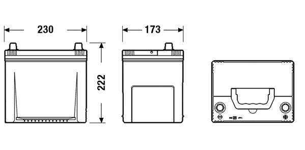 DETA DA654 | Аккумулятор DETA SENATOR3 12 V 65 AH 580 A ETN 0(R+) Korean B1 230x170x225mm 16.2kg | Купить в интернет-магазине Макс-Плюс: Автозапчасти в наличии и под заказ