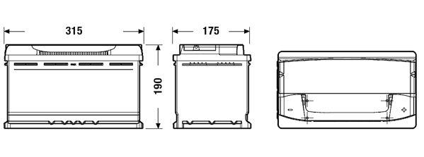 DETA DA900 | Аккумуляторная батарея 90Ah DETA SENATOR3 CARBON BOOST 12V 90AH 720A ETN 0(R+) B13 315x175x190mm 20. | Купить в интернет-магазине Макс-Плюс: Автозапчасти в наличии и под заказ