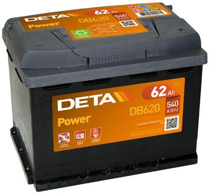 DETA DB620 | Аккумуляторная батарея 62Ah DETA POWER 12 V 62 AH 540 A ETN 0(R+) B13 242x175x190mm 15.6kg | Купить в интернет-магазине Макс-Плюс: Автозапчасти в наличии и под заказ