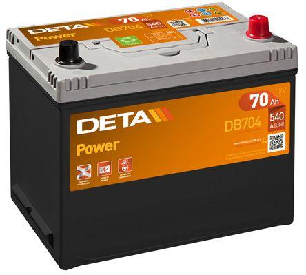 DETA DB704 | Аккумуляторная батарея 70Ah DETA POWER 12 V 70 AH 540 A ETN 0(R+) B9 266x172x223mm 18.4kg | Купить в интернет-магазине Макс-Плюс: Автозапчасти в наличии и под заказ