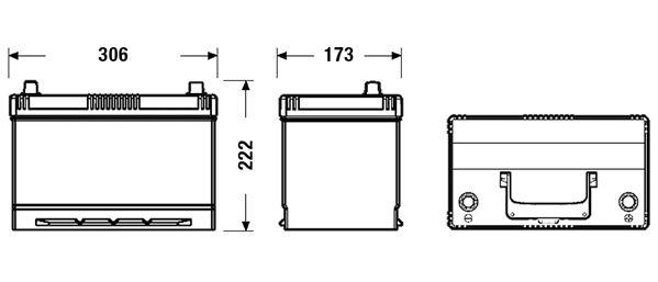 DETA DB954 | Аккумуляторная батарея 95Ah DETA POWER 12V 95AH 720A ETN 0(R+) Korean | Купить в интернет-магазине Макс-Плюс: Автозапчасти в наличии и под заказ
