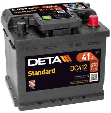 DETA DC412 | Аккумуляторная батарея 41Ah DETA STANDARD 12 V 41 AH 370 A ETN 0(R+) B13 207x175x175mm 11kg | Купить в интернет-магазине Макс-Плюс: Автозапчасти в наличии и под заказ