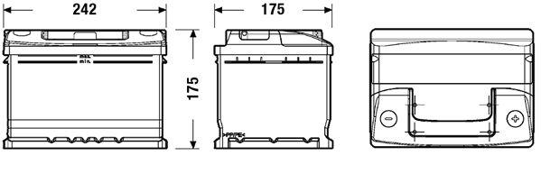 DETA DC542 | Аккумуляторная батарея 54Ah DETA STANDARD 12V 54AH 510A ETN 0(R+) B13 242x175x175mm 14.2kg | Купить в интернет-магазине Макс-Плюс: Автозапчасти в наличии и под заказ