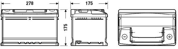 DETA DC652 | Аккумулятор DETA STANDARD 12 V 65 AH 540 A ETN 0(R+) B13 278x175x175mm 16.8kg | Купить в интернет-магазине Макс-Плюс: Автозапчасти в наличии и под заказ