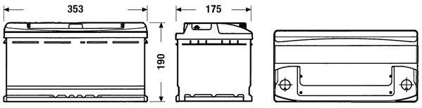 DETA DC900 | Аккумуляторная батарея 90Ah DETA STANDARD 12 V 90 AH 720 A ETN 0(R+) B13 353x175x190mm 22.8kg | Купить в интернет-магазине Макс-Плюс: Автозапчасти в наличии и под заказ