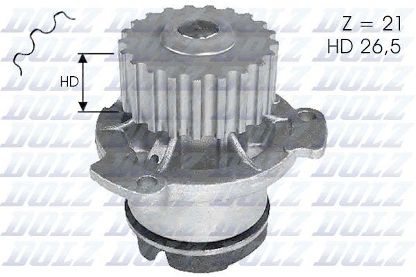 DOLZ L121   Помпа водяная   Купить в интернет-магазине Макс-Плюс: Автозапчасти в наличии и под заказ