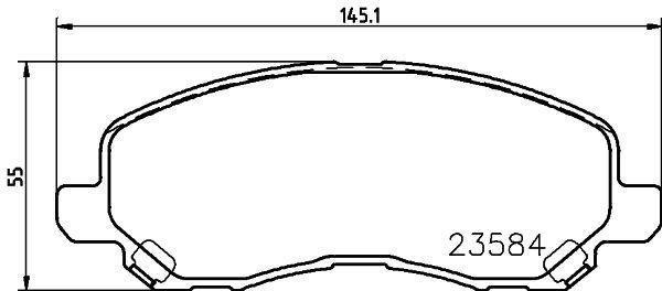 DON PCP1069 | Комплект колодок для дисковых тормозов | Купить в интернет-магазине Макс-Плюс: Автозапчасти в наличии и под заказ