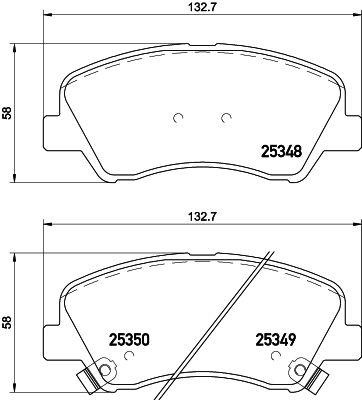 DON PCP1073 | комплект колодок для дисковых тормозов | Купить в интернет-магазине Макс-Плюс: Автозапчасти в наличии и под заказ