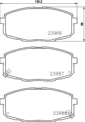 DON PCP1078 | комплект колодок для дисковых тормозов | Купить в интернет-магазине Макс-Плюс: Автозапчасти в наличии и под заказ