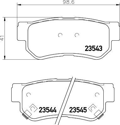 DON PCP1093 | комплект колодок для дисковых тормозов | Купить в интернет-магазине Макс-Плюс: Автозапчасти в наличии и под заказ