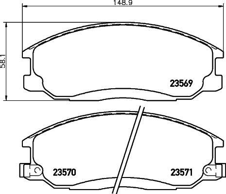 DON PCP1148 | комплект колодок для дисковых тормозов | Купить в интернет-магазине Макс-Плюс: Автозапчасти в наличии и под заказ