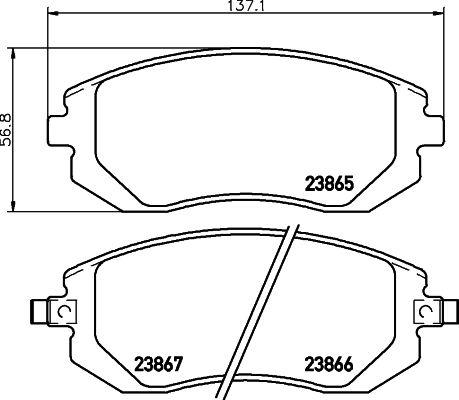 DON PCP1157 | комплект колодок для дисковых тормозов | Купить в интернет-магазине Макс-Плюс: Автозапчасти в наличии и под заказ