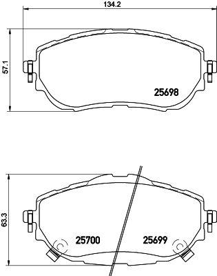 DON PCP1227 | комплект колодок для дисковых тормозов | Купить в интернет-магазине Макс-Плюс: Автозапчасти в наличии и под заказ