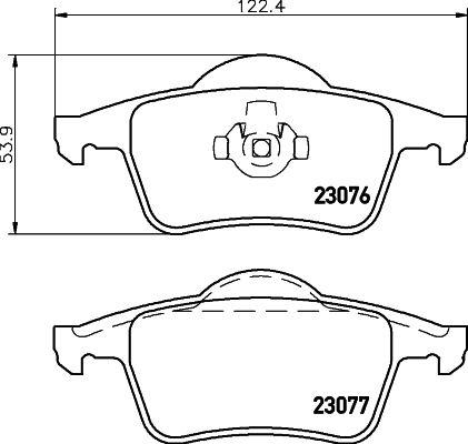 DON PCP1254 | комплект колодок для дисковых тормозов | Купить в интернет-магазине Макс-Плюс: Автозапчасти в наличии и под заказ