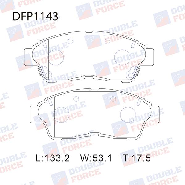 DOUBLE FORCE DFP1143 | Колодки тормозные дисковые Double Force | Купить в интернет-магазине Макс-Плюс: Автозапчасти в наличии и под заказ
