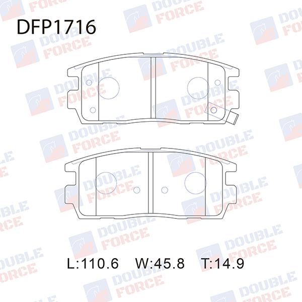 DOUBLE FORCE DFP1716 | Колодки тормозные дисковые Double Force | Купить в интернет-магазине Макс-Плюс: Автозапчасти в наличии и под заказ
