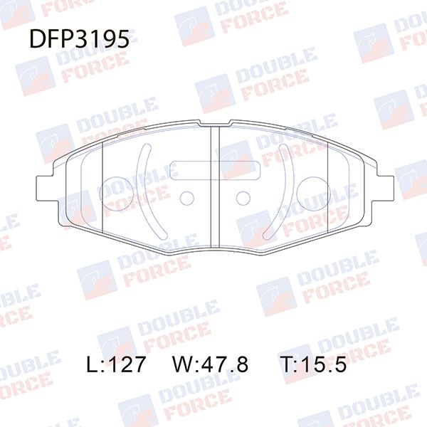 DOUBLE FORCE DFP3195 | Колодки тормозные (F) Daewoo Lanos (97-02), Mati | Купить в интернет-магазине Макс-Плюс: Автозапчасти в наличии и под заказ