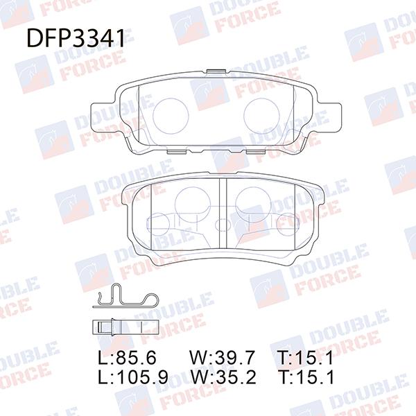 DOUBLE FORCE DFP3341 | Колодки тормозные дисковые Double Force | Купить в интернет-магазине Макс-Плюс: Автозапчасти в наличии и под заказ