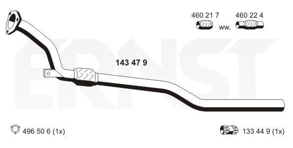 ERNST 143479 | Трубка | Купить в интернет-магазине Макс-Плюс: Автозапчасти в наличии и под заказ