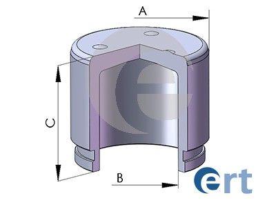 ERT 150273C | Поршень переднего суппорта | Купить в интернет-магазине Макс-Плюс: Автозапчасти в наличии и под заказ