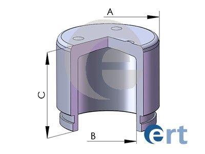 ERT 151160C | Поршень суппорта  Cerato II (TD) 1.6/2.0 (09-) d57,15mm 151160-C | Купить в интернет-магазине Макс-Плюс: Автозапчасти в наличии и под заказ