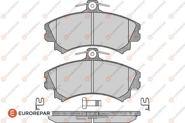 EUROREPAR 1617268380 | Набор передних тормозных колодок (4 шт) | Купить в интернет-магазине Макс-Плюс: Автозапчасти в наличии и под заказ