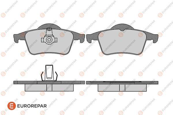 EUROREPAR 1617280080 | Набор задних тормозных колодок (4 шт) | Купить в интернет-магазине Макс-Плюс: Автозапчасти в наличии и под заказ