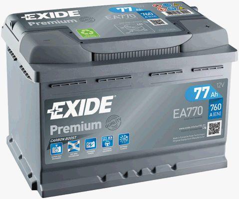 EXIDE EA770   АКБ 77Ah 760A 278x175x190 о.п. (-+) (PREMIUM)   Купить в интернет-магазине Макс-Плюс: Автозапчасти в наличии и под заказ