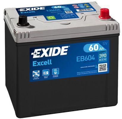 EXIDE EB604   АКБ 60Ah 390A 230x172x220 о.п. (-+) (EXCELL)   Купить в интернет-магазине Макс-Плюс: Автозапчасти в наличии и под заказ