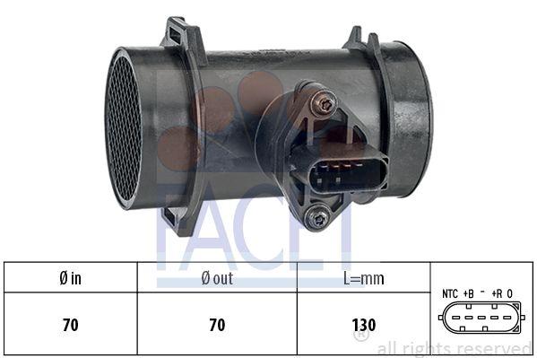 FACET 101442 | Расходомер воздуха MB W202/W210 99- | Купить в интернет-магазине Макс-Плюс: Автозапчасти в наличии и под заказ