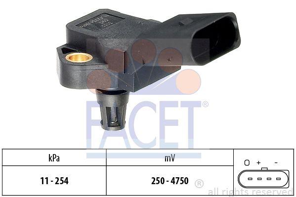 FACET 103112 | Датчик давления воздуха AUDI: A3 (8L1) S3/S3 quattro 96-03, A3 (8P1) 1.8 TFSI/2.0 TFSI/2.0 TFSI quat | Купить в интернет-магазине Макс-Плюс: Автозапчасти в наличии и под заказ