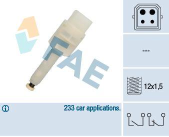 FAE 24565 | датчик стоп-сигнала!\ Audi A4/A6 1.8-4.2/2.5TDi 94>, VW Passat all 96> | Купить в интернет-магазине Макс-Плюс: Автозапчасти в наличии и под заказ
