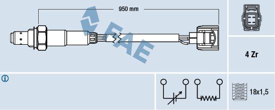 FAE 77520 | Лямбда-зонд MITSUBISHI | Купить в интернет-магазине Макс-Плюс: Автозапчасти в наличии и под заказ